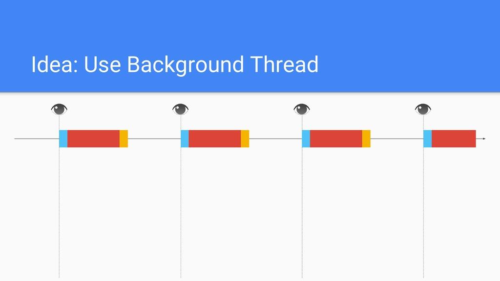 Idea: Use Background Thread