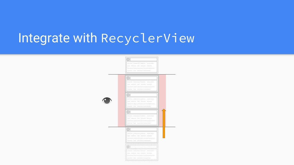 Integrate with RecyclerView