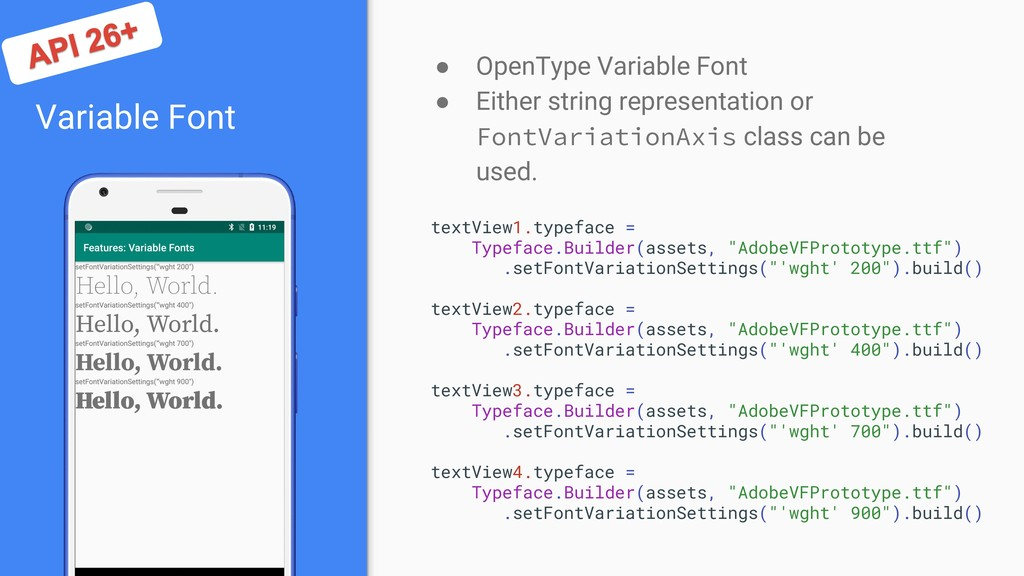 Variable Font ● OpenType Variable Font ● Either...