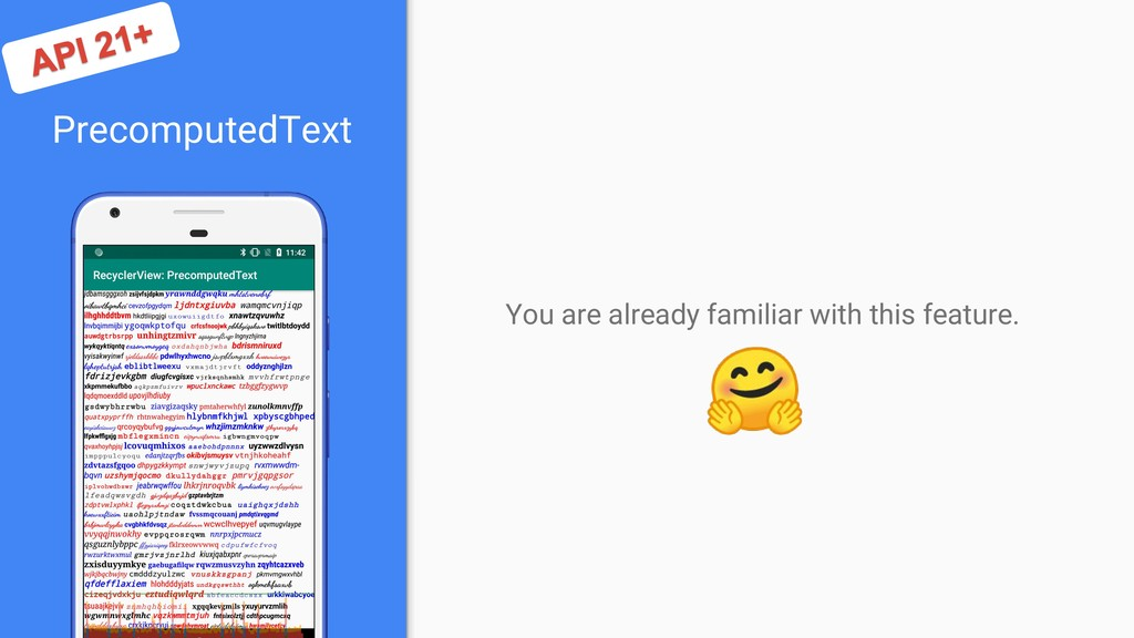 PrecomputedText You are already familiar with t...