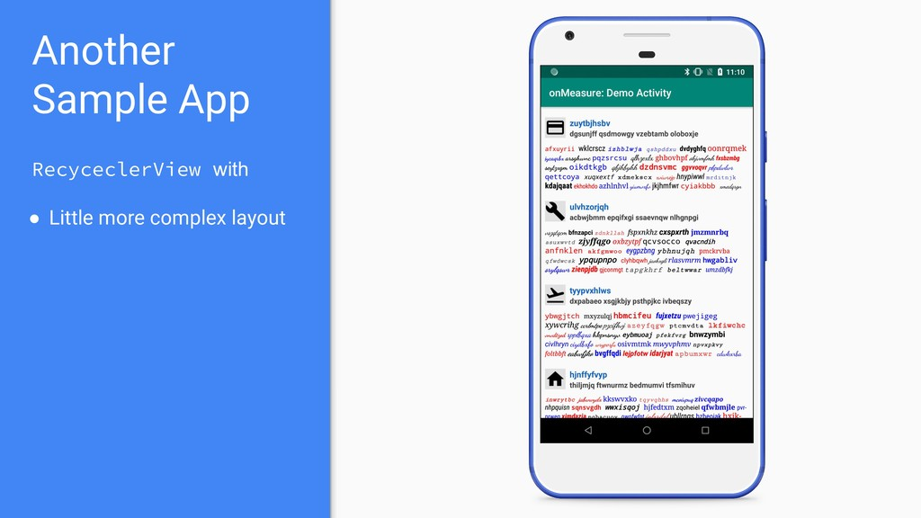 Another Sample App RecyceclerView with ● Little...