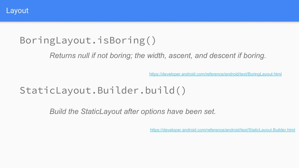 Layout Build the StaticLayout after options hav...