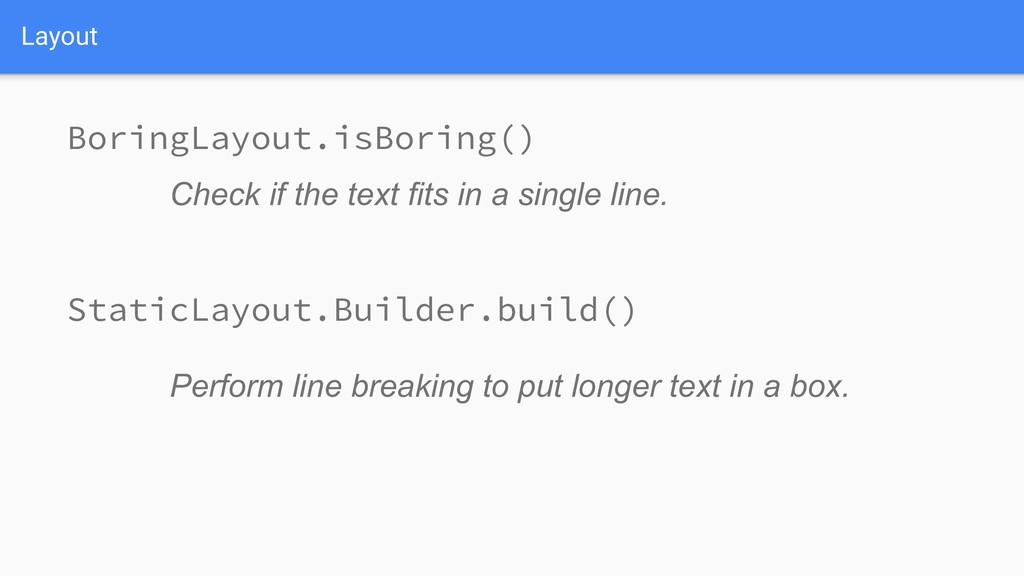 Layout Perform line breaking to put longer text...