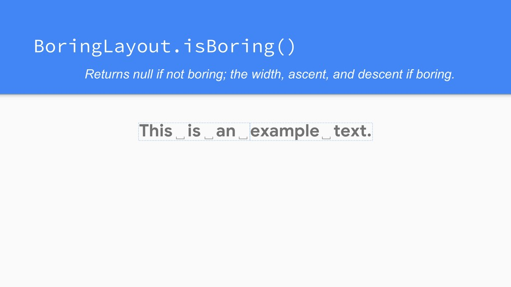 This is an example text. ␣ ␣ ␣ ␣ Returns null i...