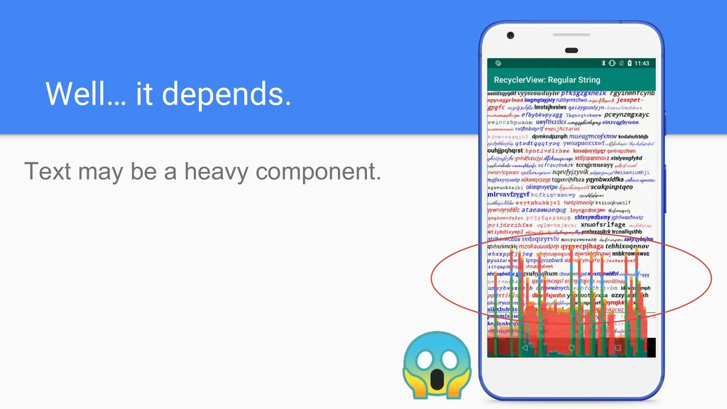 Well… it depends. Text may be a heavy component.