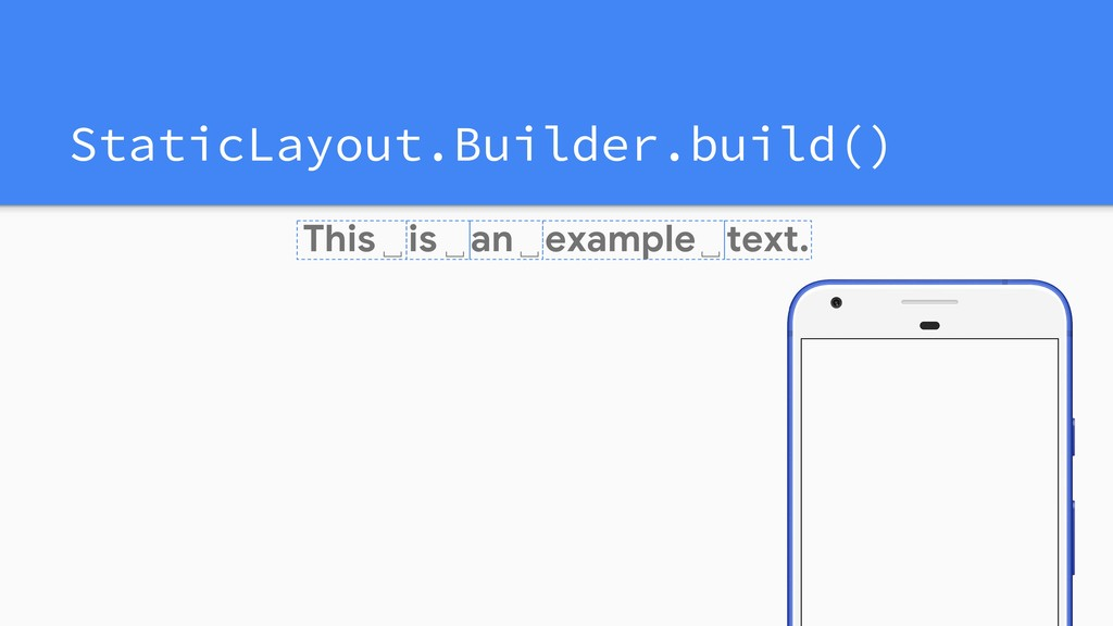 StaticLayout.Builder.build() This is an text. ␣...