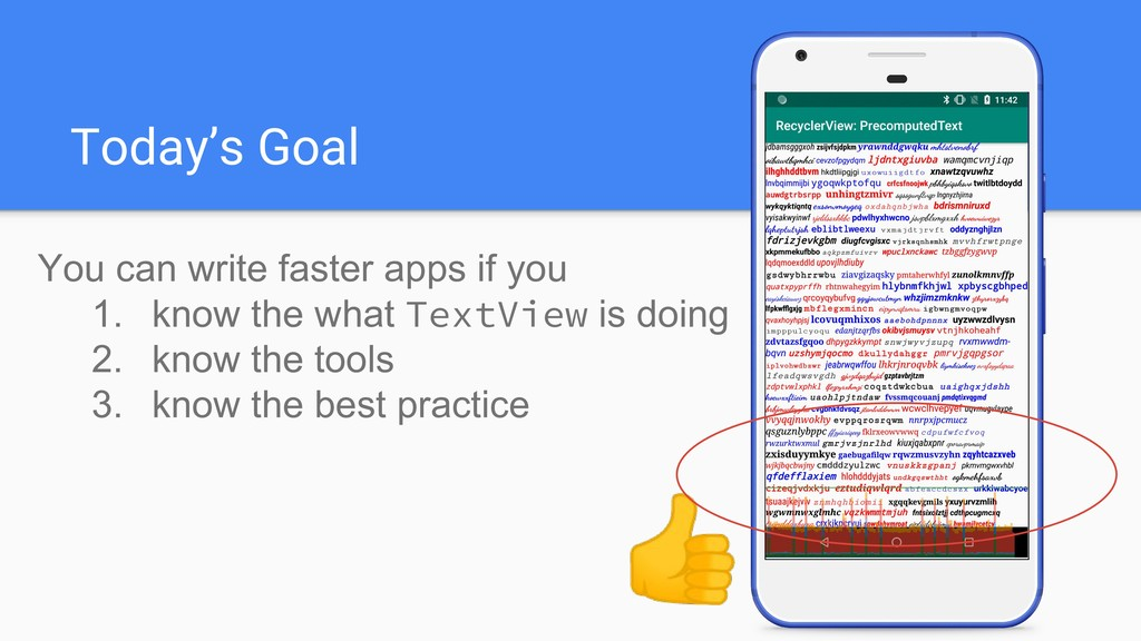 Today's Goal You can write faster apps if you 1...