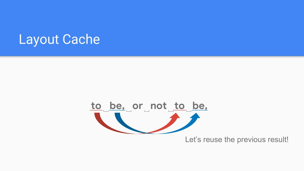 Layout Cache to␣ be, or not to be, ␣ ␣ ␣ ␣ Let'...