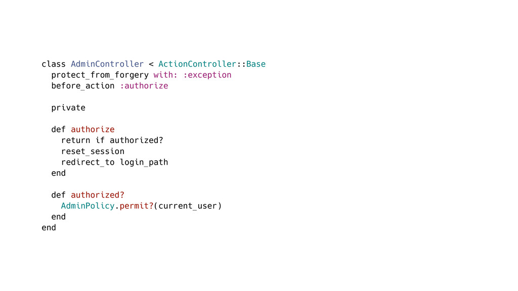 class AdminController < ActionController::Base ...