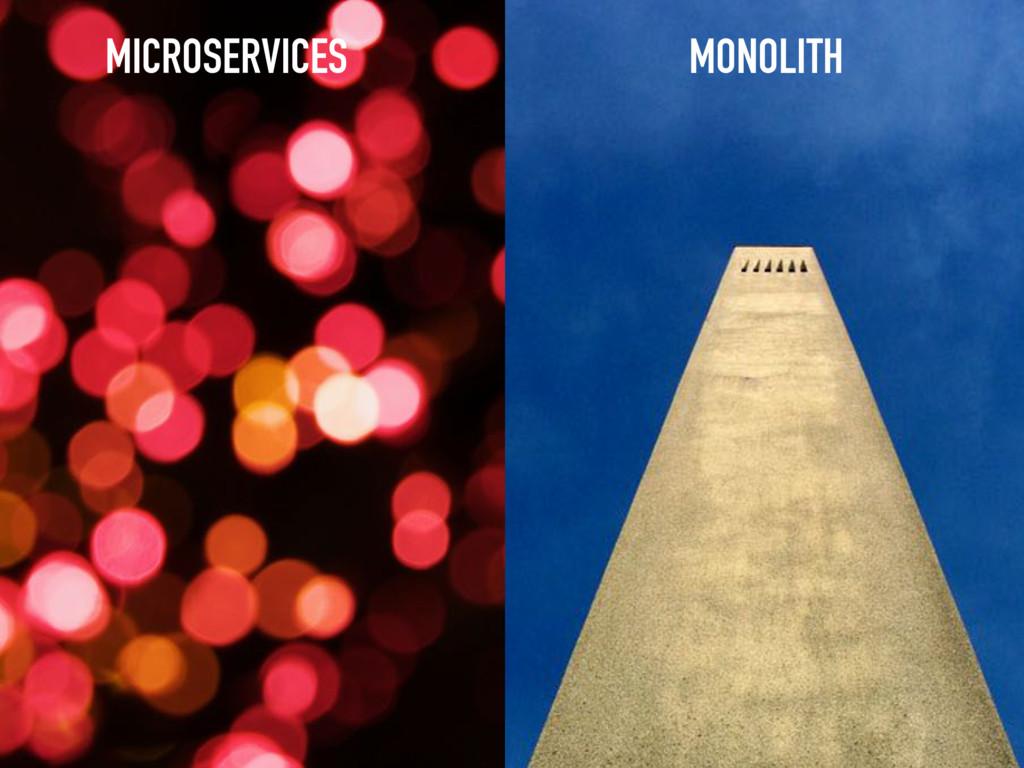 MICROSERVICES MONOLITH
