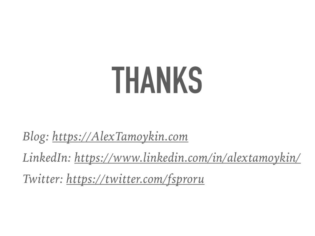 THANKS Blog: https://AlexTamoykin.com LinkedIn:...