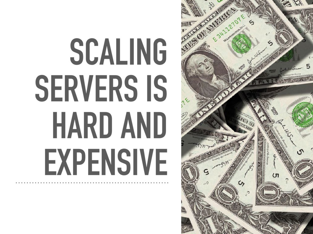 SCALING SERVERS IS HARD AND EXPENSIVE