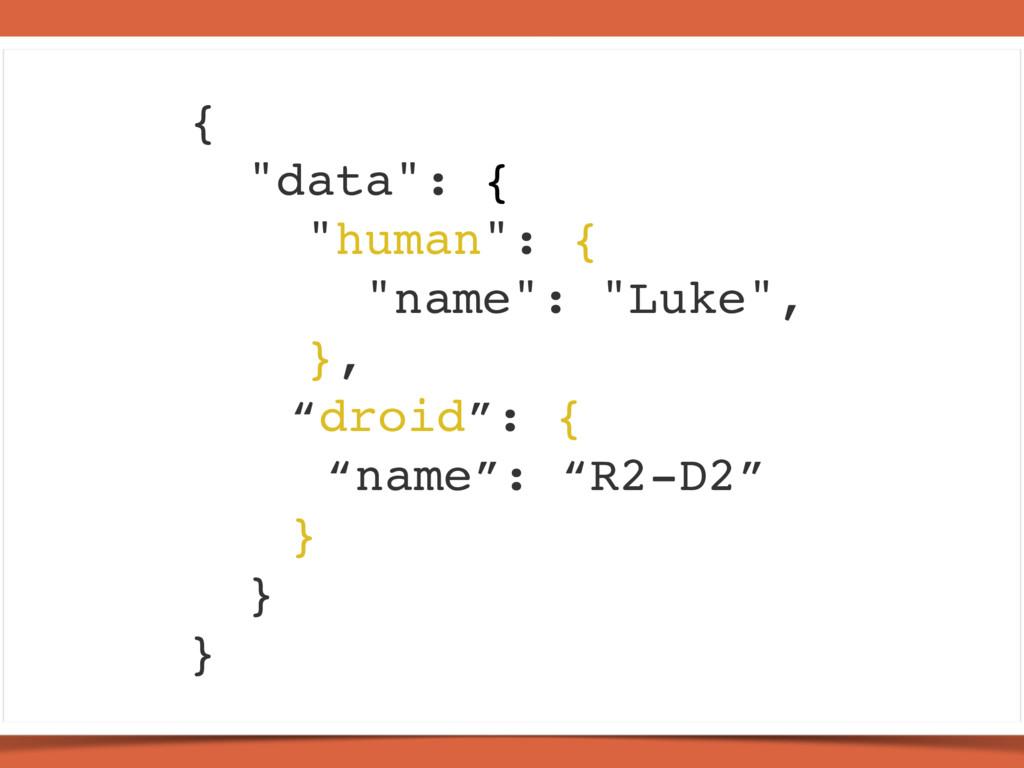 "{ ""data"": { ""human"": { ""name"": ""Luke"", }, ""droi..."