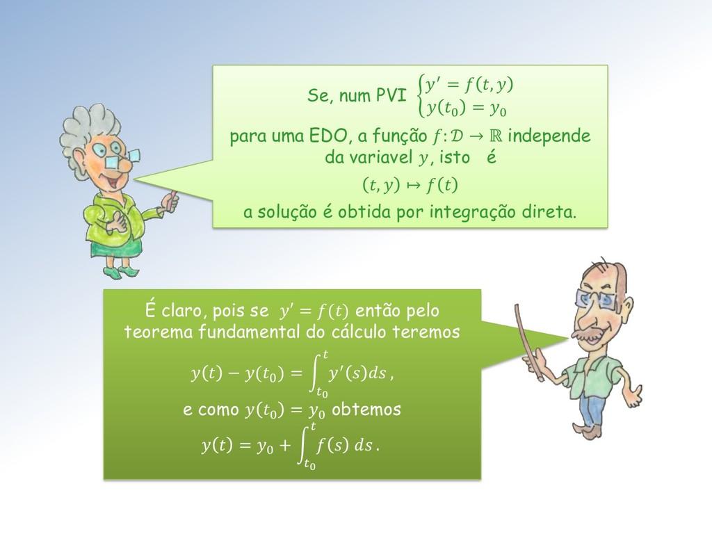 É claro, pois se ′ = () então pelo teorema fund...