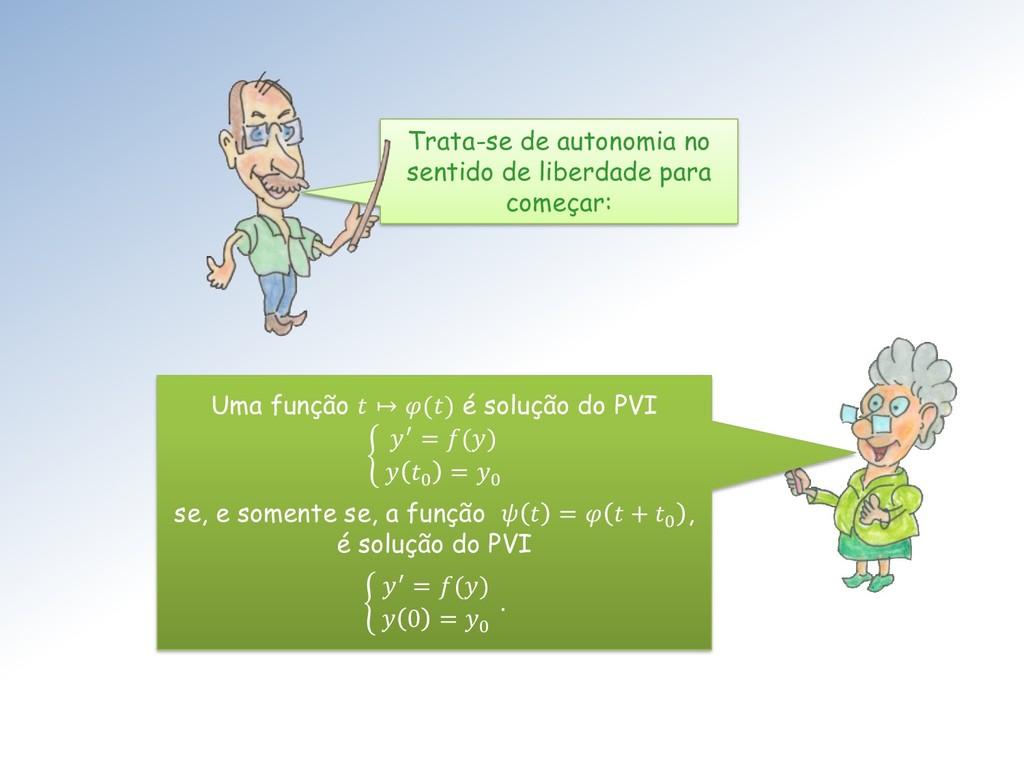 Uma função  ↦ () é solução do PVI ቊ ′ = ()  0 =...