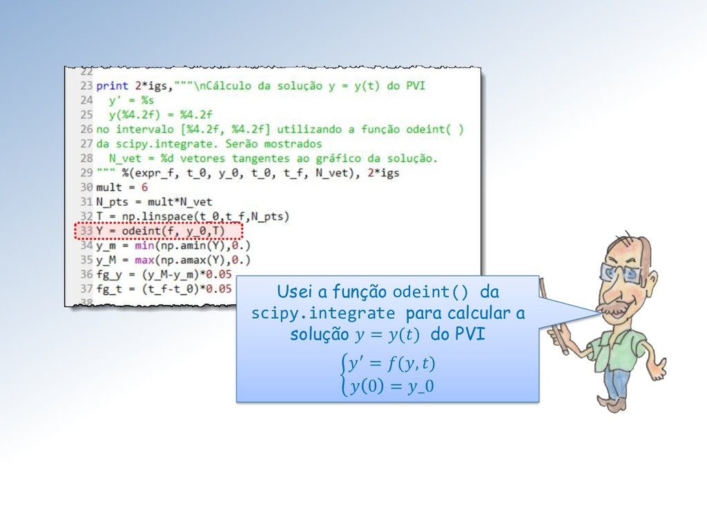 Usei a função odeint() da scipy.integrate para ...