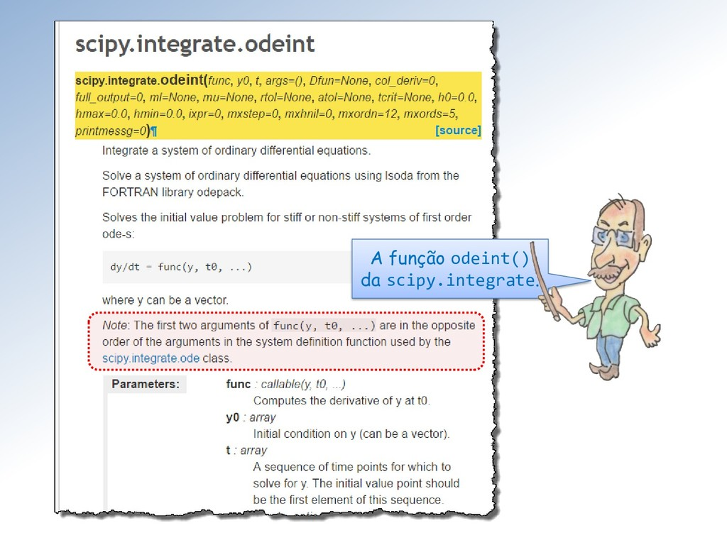A função odeint() da scipy.integrate.
