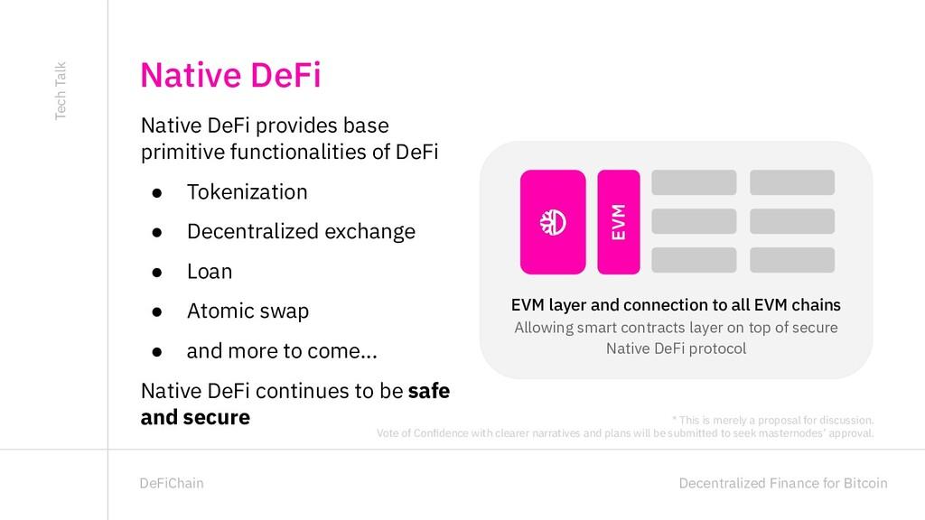 Decentralized Finance for Bitcoin DeFiChain Nat...