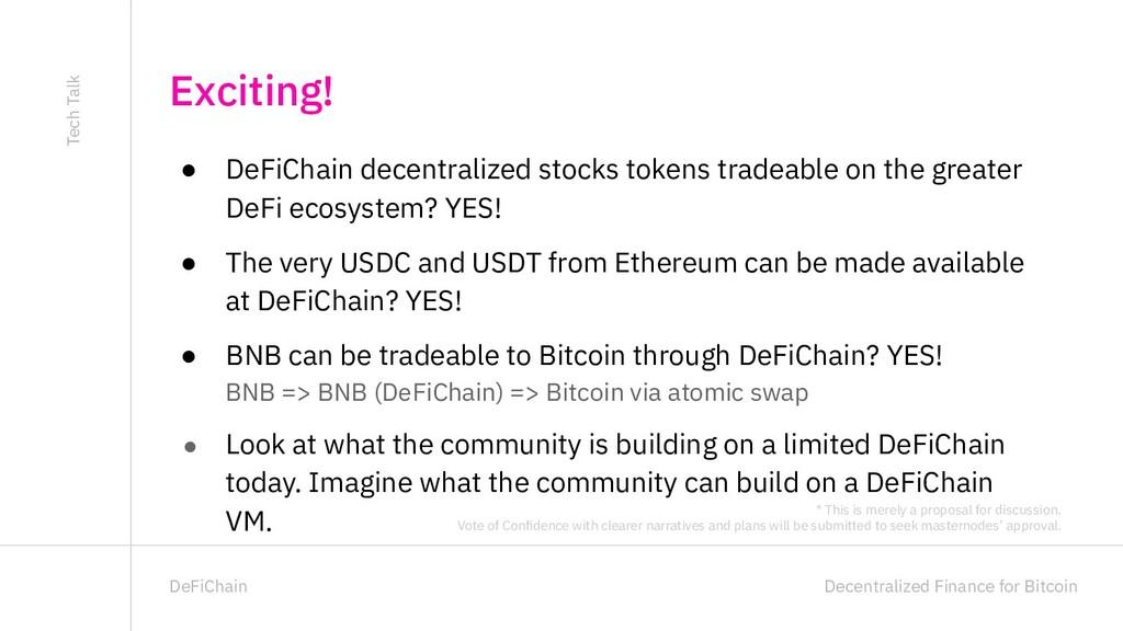 Decentralized Finance for Bitcoin DeFiChain ● D...