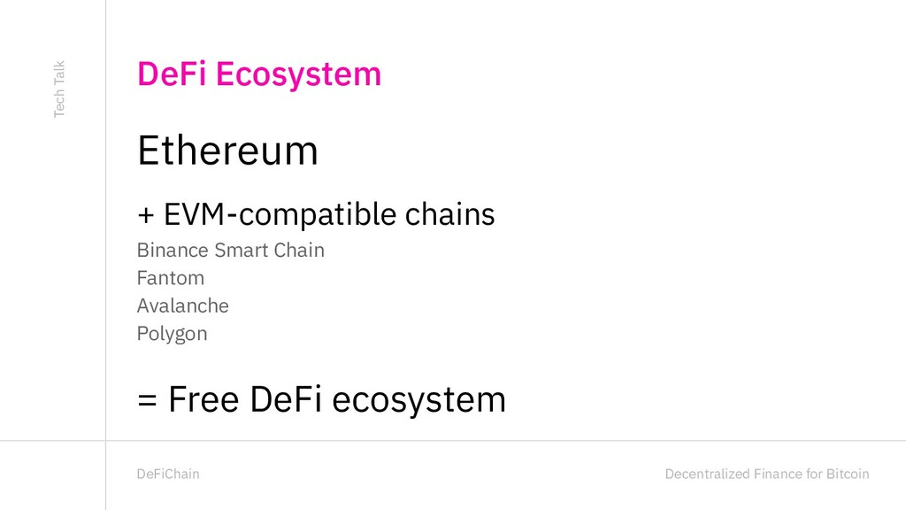 Decentralized Finance for Bitcoin DeFiChain Eth...