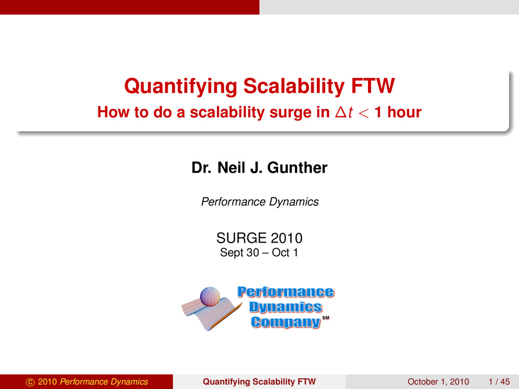 Quantifying Scalability FTW How to do a scalabi...