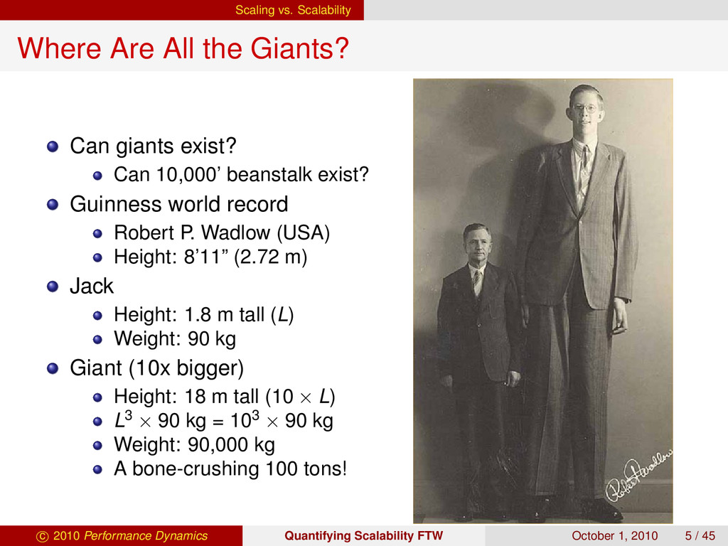 Scaling vs. Scalability Where Are All the Giant...