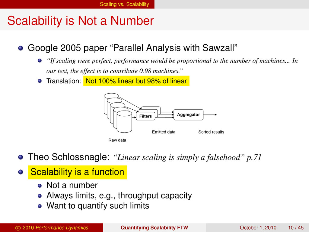 Scaling vs. Scalability Scalability is Not a Nu...