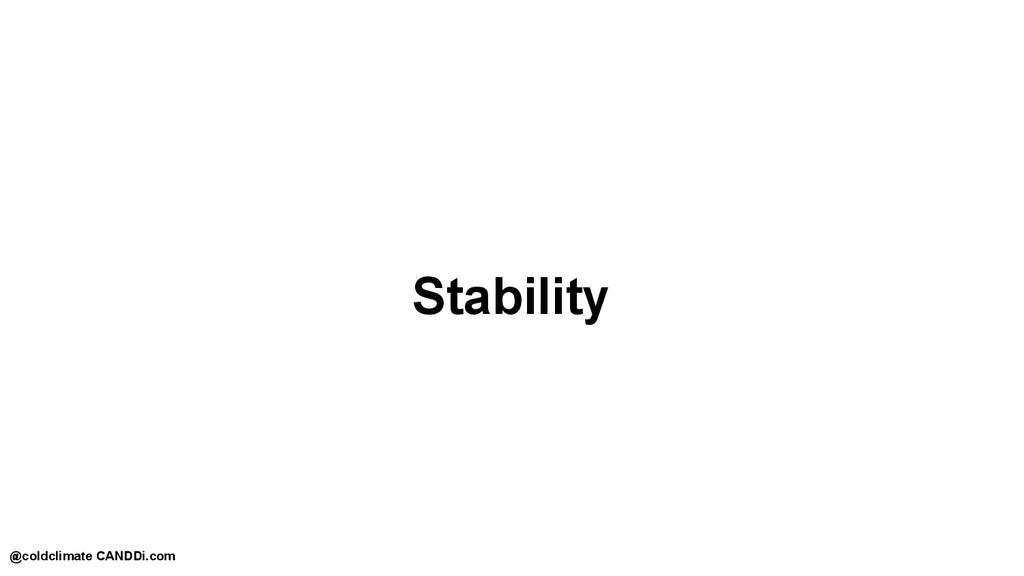 Stability @coldclimate CANDDi.com
