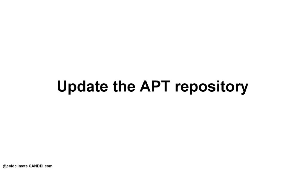 Update the APT repository @coldclimate CANDDi.c...
