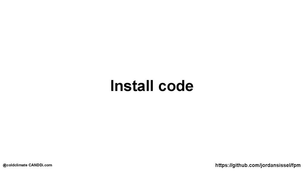 Install code https://github.com/jordansissel/fp...
