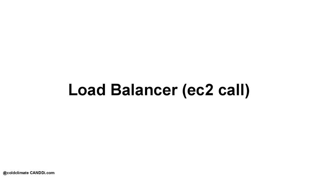 Load Balancer (ec2 call) @coldclimate CANDDi.com