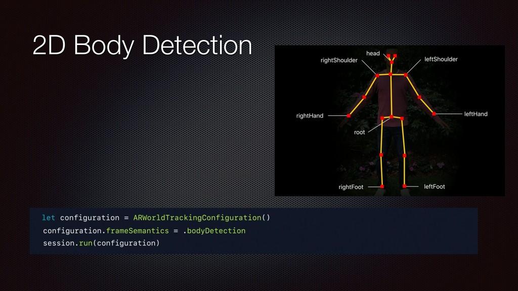 2D Body Detection