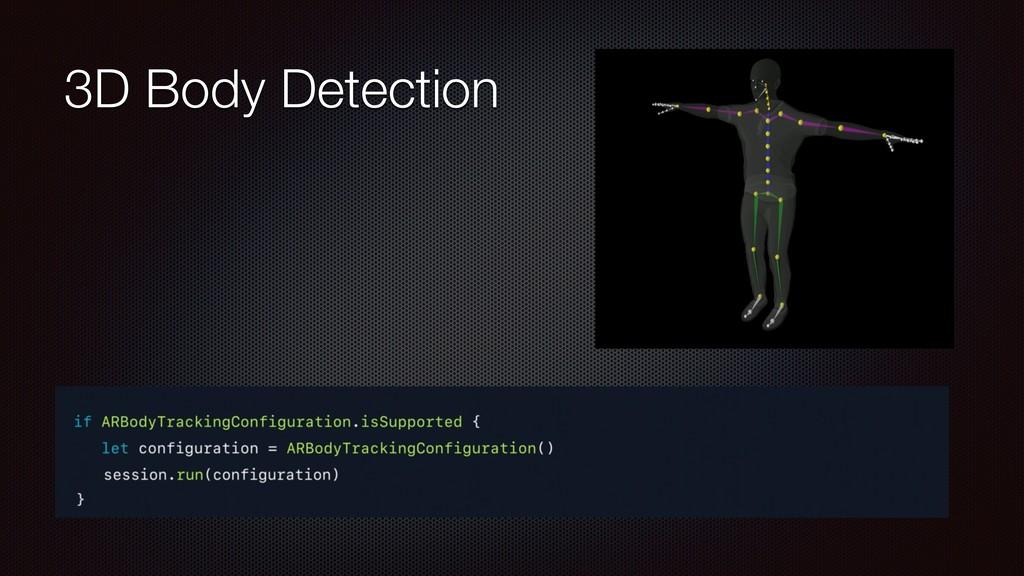 3D Body Detection