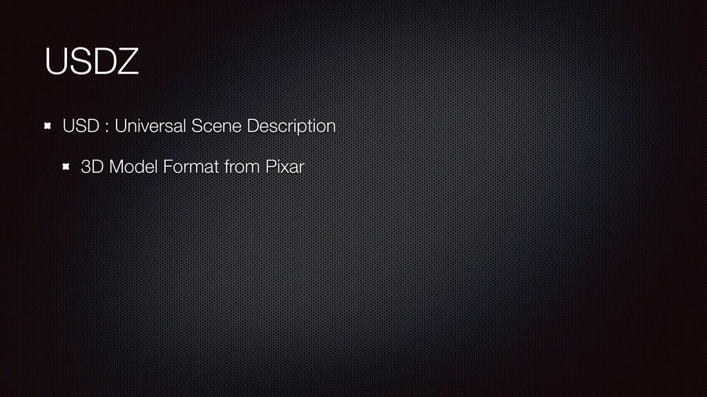 USDZ USD : Universal Scene Description 3D Model...