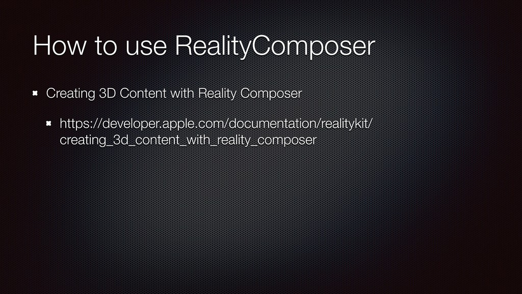 How to use RealityComposer Creating 3D Content ...