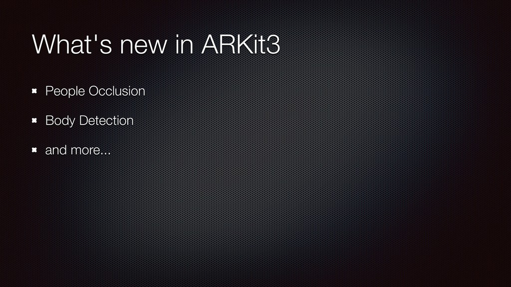 What's new in ARKit3 People Occlusion Body Dete...
