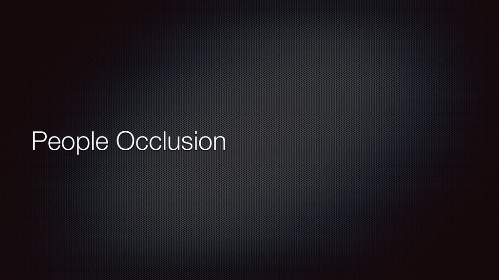 People Occlusion