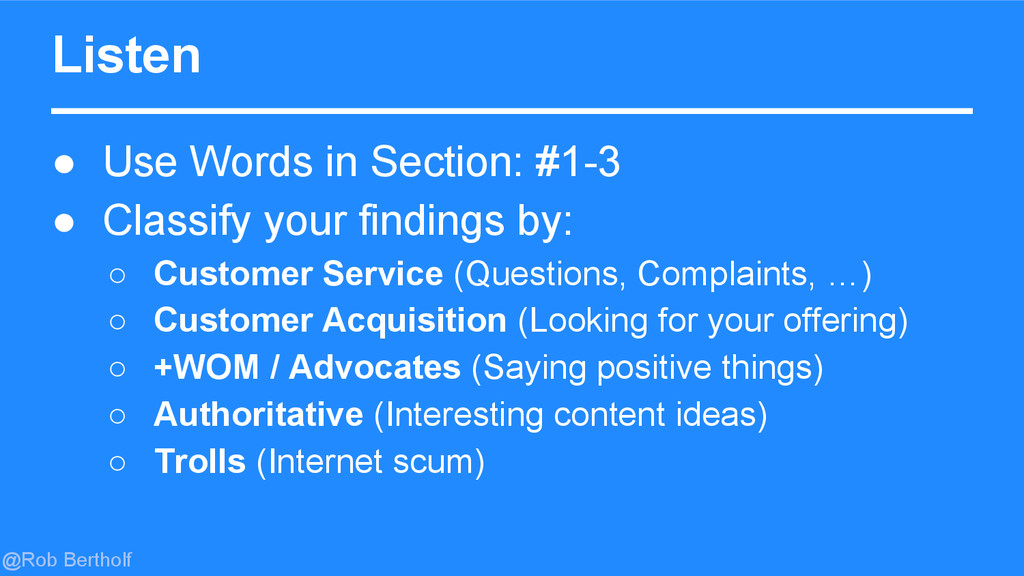 @Rob Bertholf Listen ● Use Words in Section: #1...