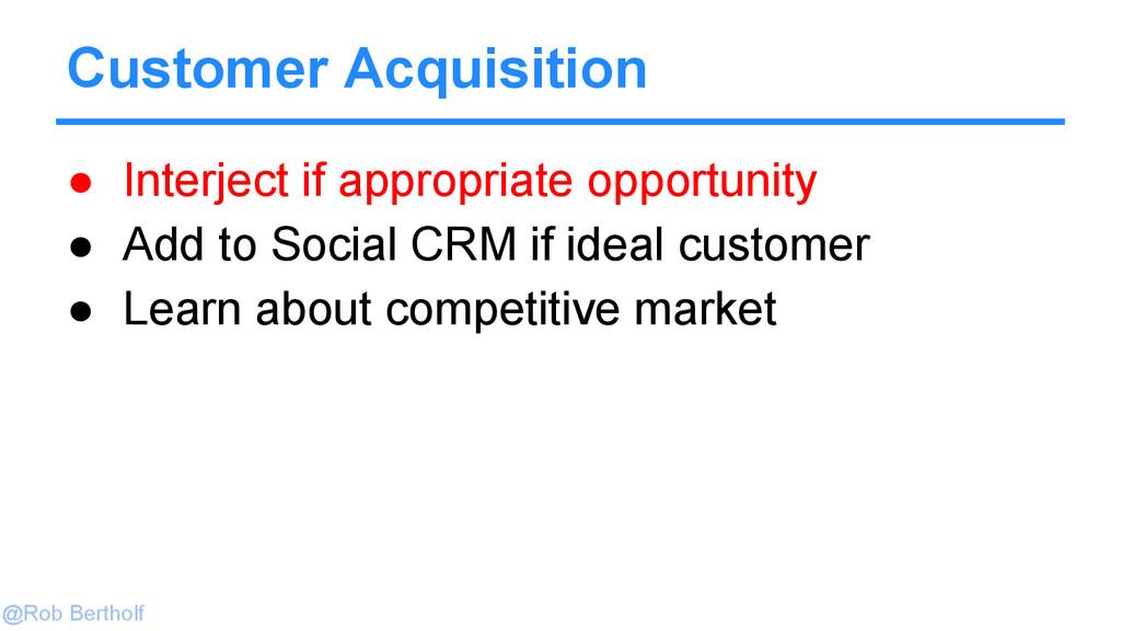 @Rob Bertholf Customer Acquisition ● Interject ...