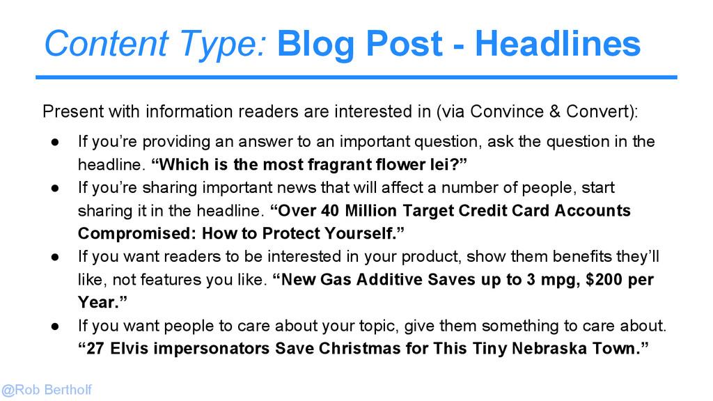 @Rob Bertholf Content Type: Blog Post - Headlin...
