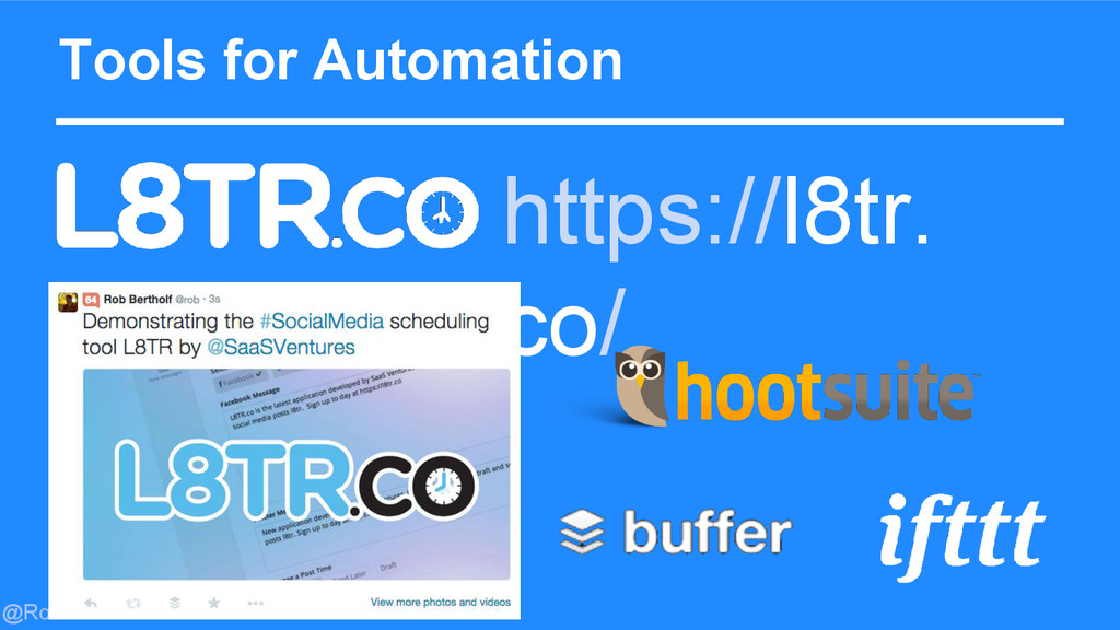 @Rob Bertholf Tools for Automation https://l8tr...