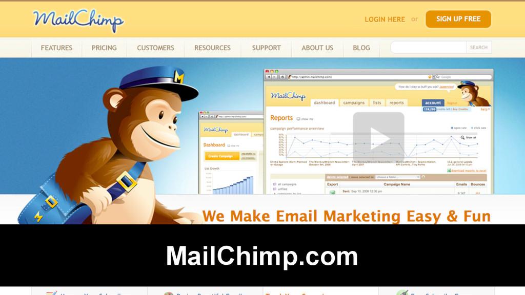 @Rob Bertholf MailChimp.com