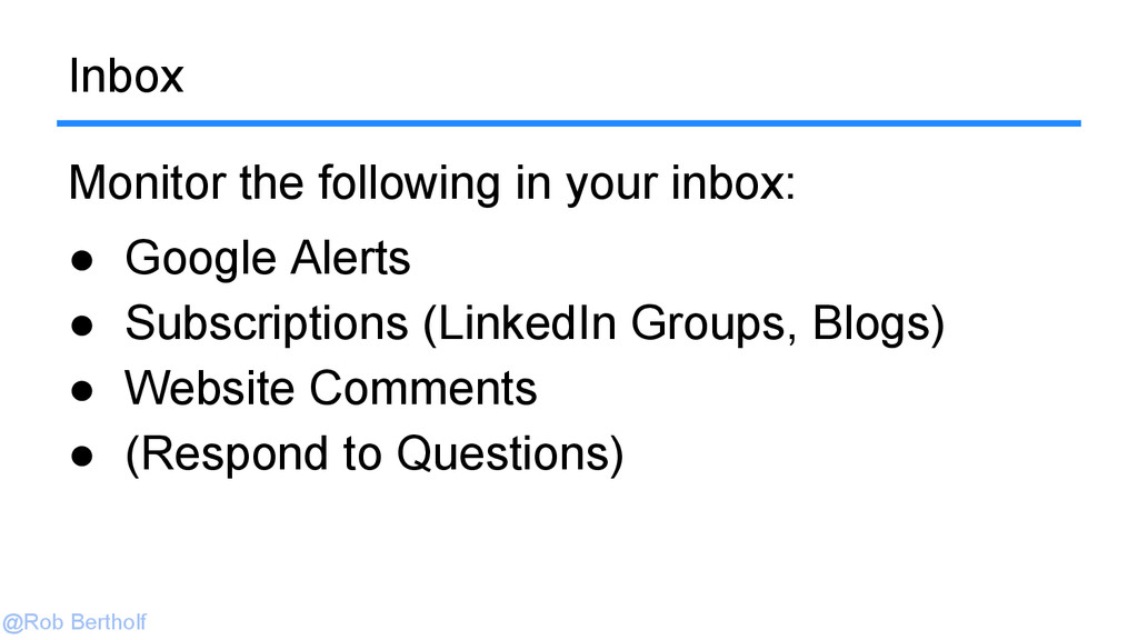 @Rob Bertholf Inbox Monitor the following in yo...