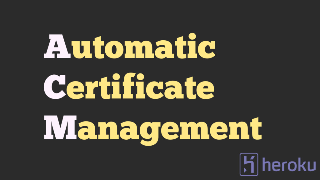 Automatic Certificate