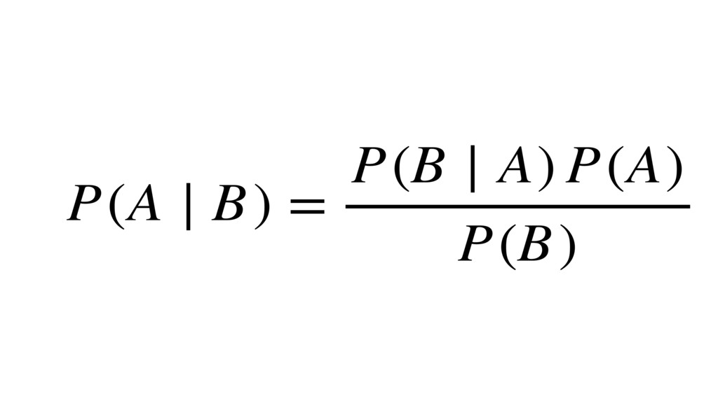 P(A ∣ B) = P(B ∣ A) P(A) P(B)