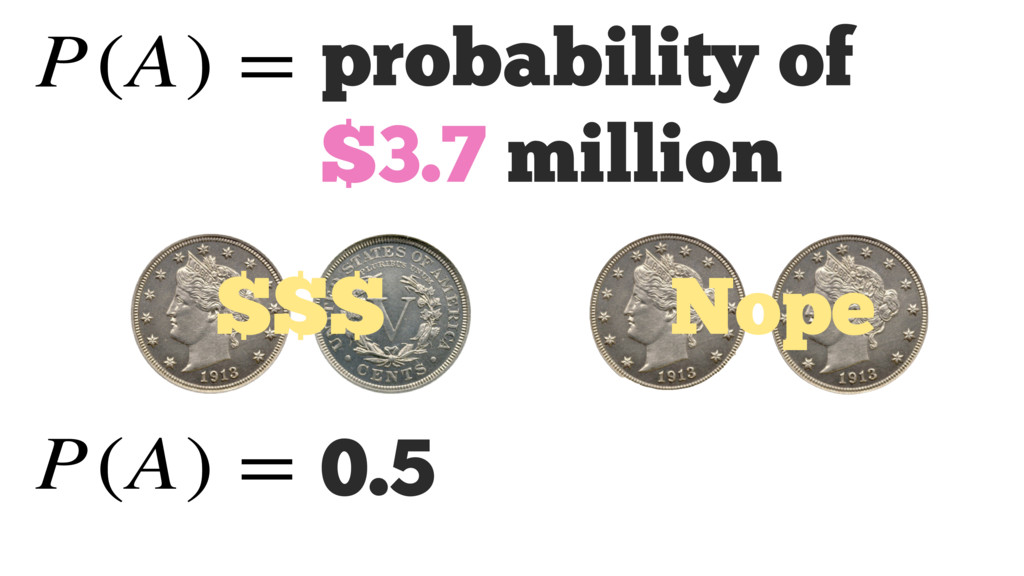 $$$ Nope 0.5 probability of $3.7 million P(A) =...
