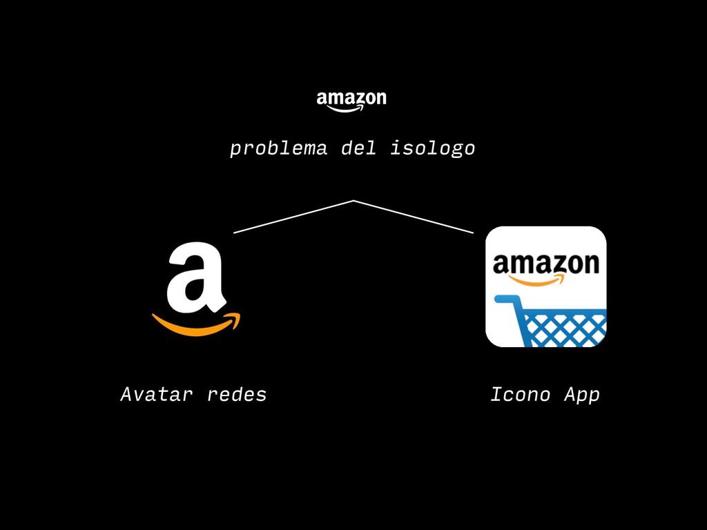 problema del isologo Avatar redes Icono App