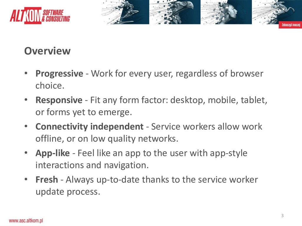 3 • Progressive - Work for every user, regardle...
