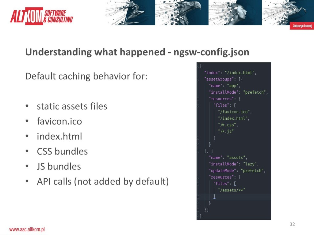 32 Understanding what happened - ngsw-config.js...